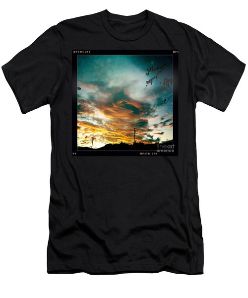 Men's T-Shirt (Slim Fit) featuring the photograph Drama In The Sky by Nina Prommer