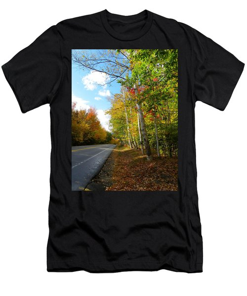 Driving Though The Birches Men's T-Shirt (Athletic Fit)
