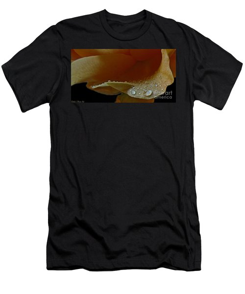 Men's T-Shirt (Slim Fit) featuring the photograph Drops Of Light by Debbie Portwood