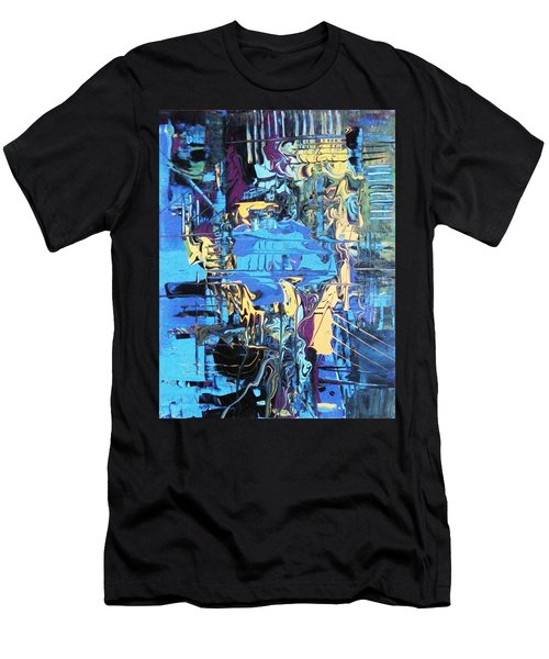 Drowning In The Blues Men's T-Shirt (Athletic Fit)