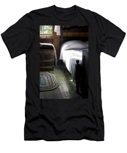 Men's T-Shirt (Slim Fit) featuring the photograph Dudley Farmhouse Interior No. 1 by Lynn Palmer