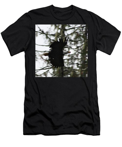 Men's T-Shirt (Slim Fit) featuring the photograph Eagle Fly By by Cathie Douglas