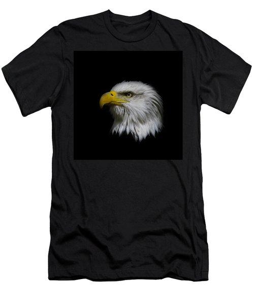 Men's T-Shirt (Slim Fit) featuring the photograph Eagle Head by Steve McKinzie