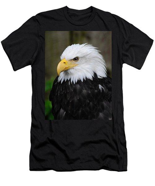 Eagle In Ketchikan Alaska 1371 Men's T-Shirt (Slim Fit) by Michael Bessler