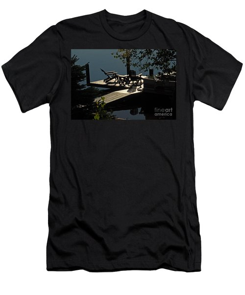 Early Morning At The Lake Men's T-Shirt (Slim Fit) by Cindy Manero
