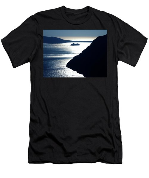 Men's T-Shirt (Slim Fit) featuring the photograph Early Night Santorini Island Greece by Colette V Hera  Guggenheim