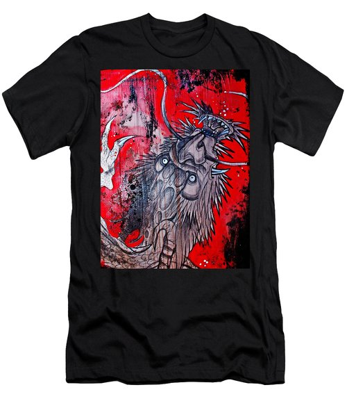 Men's T-Shirt (Slim Fit) featuring the painting Earth Spirit by Sandro Ramani