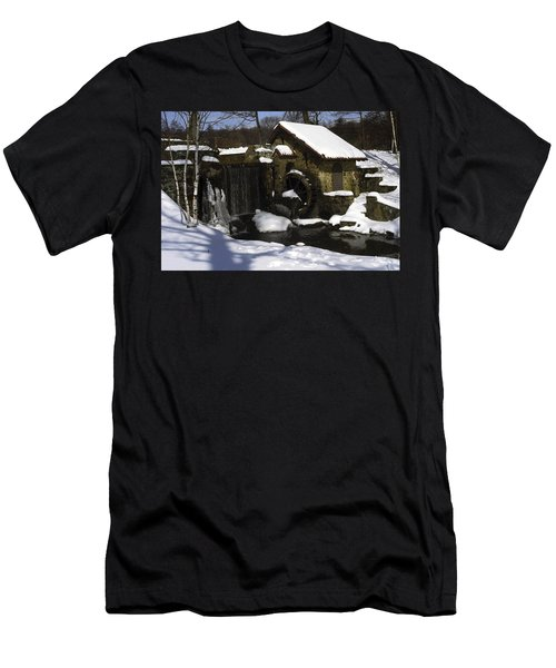Eastern University Waterwheel Historic Place Men's T-Shirt (Slim Fit) by Sally Weigand