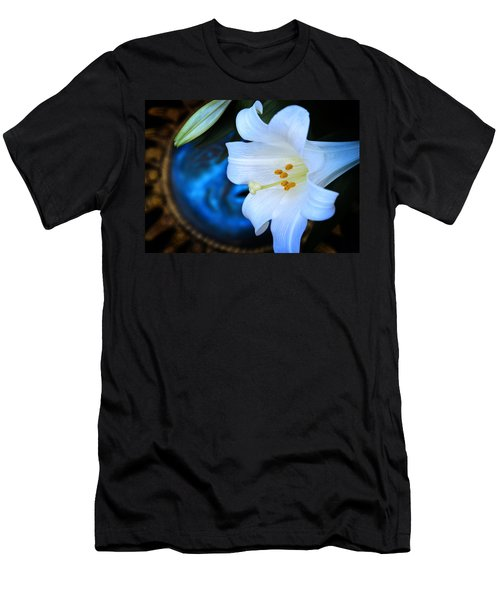 Men's T-Shirt (Slim Fit) featuring the photograph Eclipse With A Lily by Steven Sparks