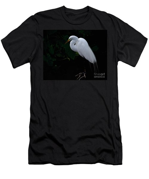 Egret On A Branch Men's T-Shirt (Athletic Fit)