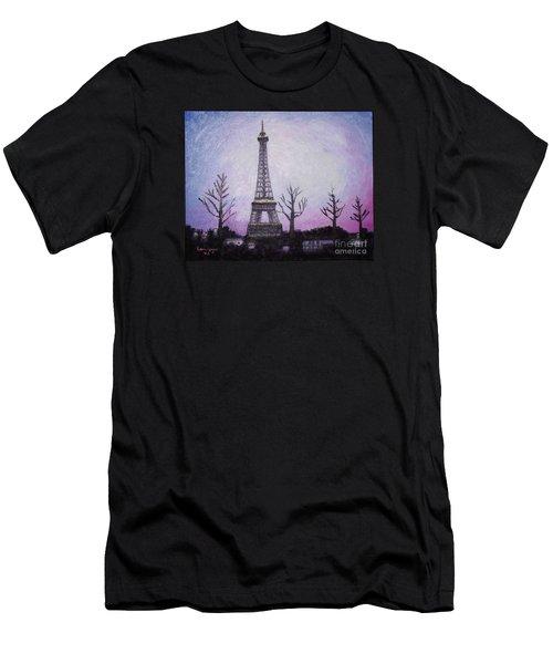 Eiffel At Night Men's T-Shirt (Athletic Fit)