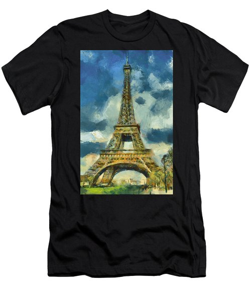 Eiffel Tower In Spring Men's T-Shirt (Athletic Fit)