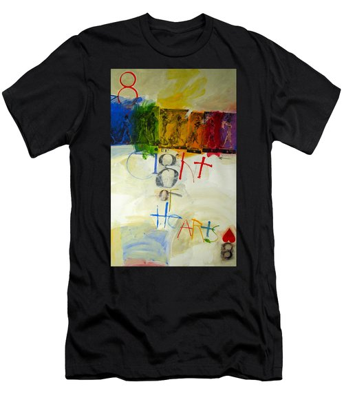 Eight Of Hearts 34-52 Men's T-Shirt (Athletic Fit)