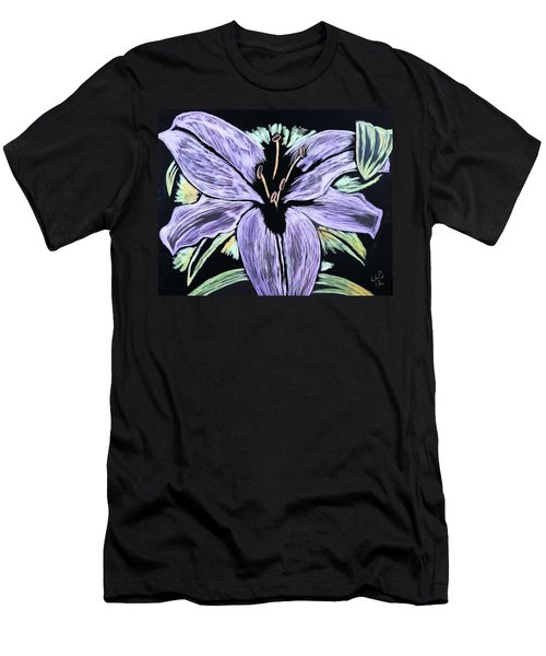 Electric Lily Phase Two Men's T-Shirt (Slim Fit) by Lisa Brandel