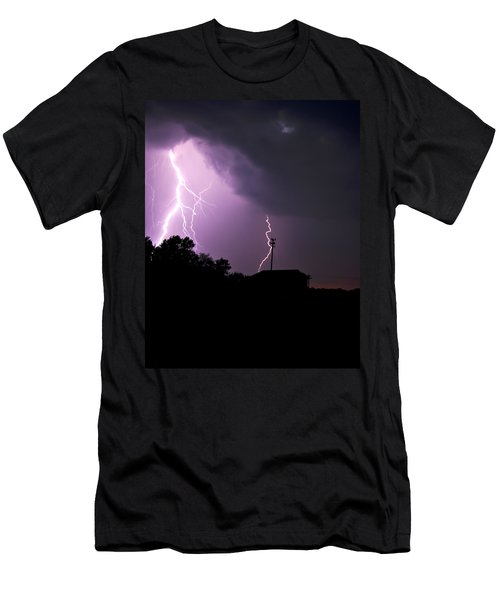 Electrifying Sky  Men's T-Shirt (Athletic Fit)