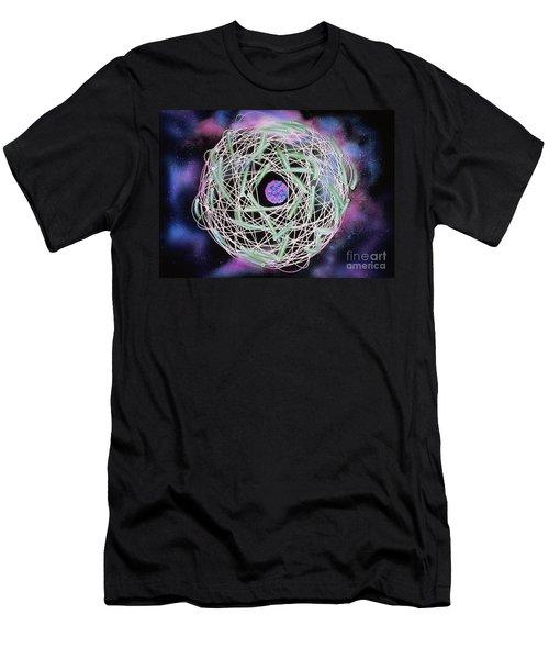 Electrons Orbiting Atom Men's T-Shirt (Athletic Fit)
