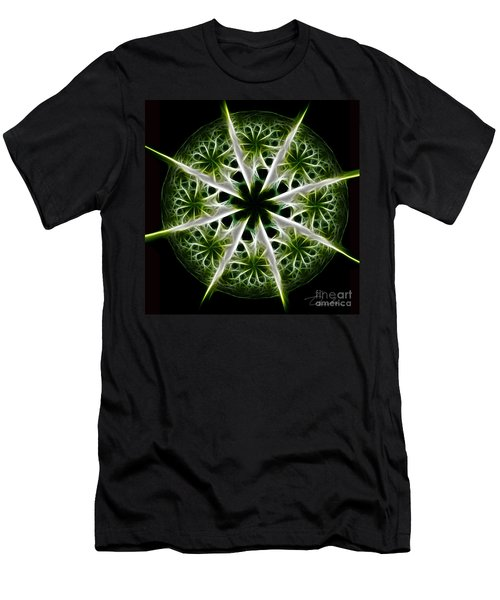 Emerald Tales Men's T-Shirt (Slim Fit) by Danuta Bennett