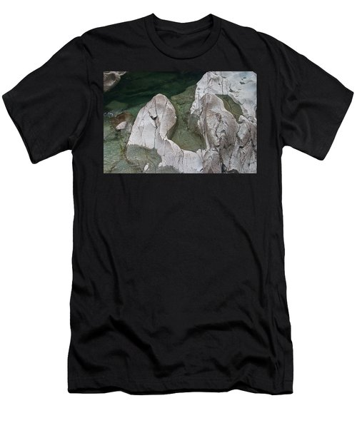 Etched Rock Water 5 Men's T-Shirt (Athletic Fit)