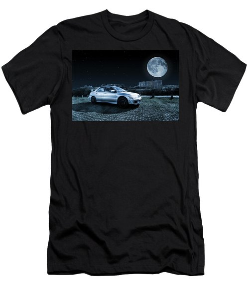 Men's T-Shirt (Slim Fit) featuring the photograph Evo 7 At Night by Steve Purnell