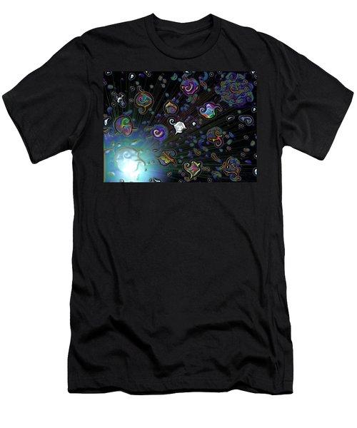 Exploding Star Men's T-Shirt (Slim Fit) by Alec Drake