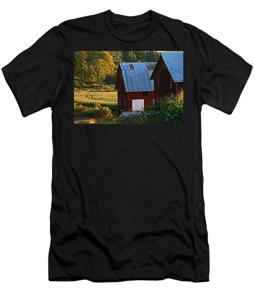 Fall Barns Men's T-Shirt (Athletic Fit)