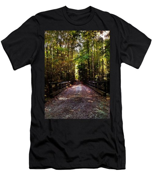 Men's T-Shirt (Slim Fit) featuring the photograph Fall Hiking Trail by Janice Spivey