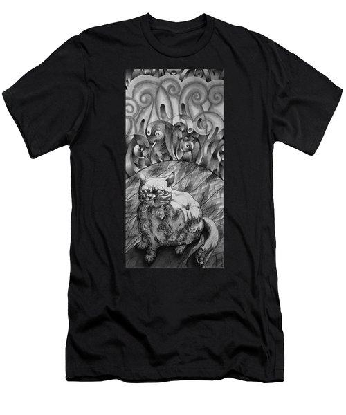 Fat Cat Fur Ball Men's T-Shirt (Athletic Fit)