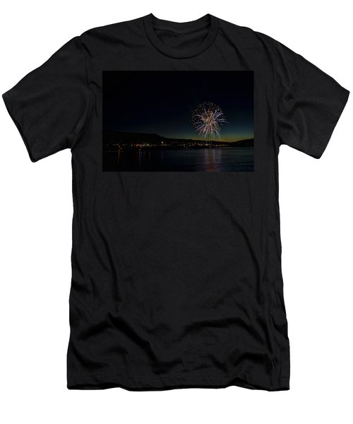 Fireworks On The River Men's T-Shirt (Athletic Fit)