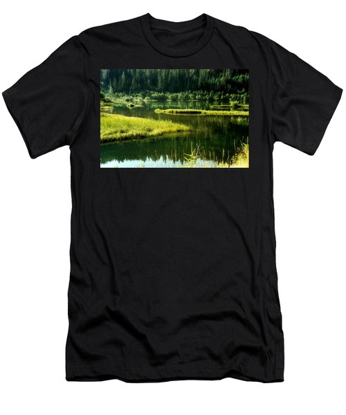 Fishing The Still Water Men's T-Shirt (Athletic Fit)