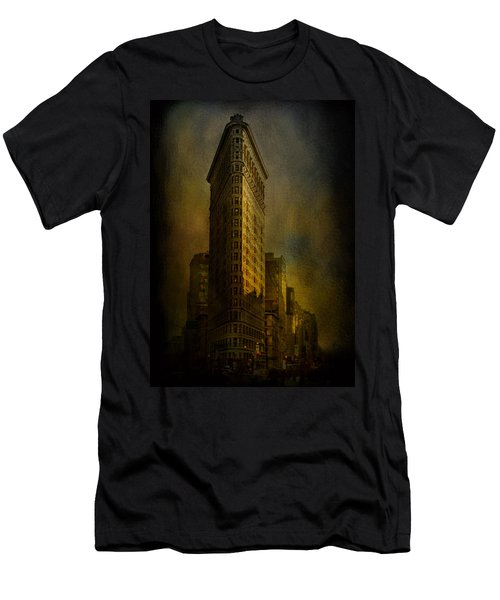 Flatiron Building...my View..revised Men's T-Shirt (Slim Fit) by Jeff Burgess