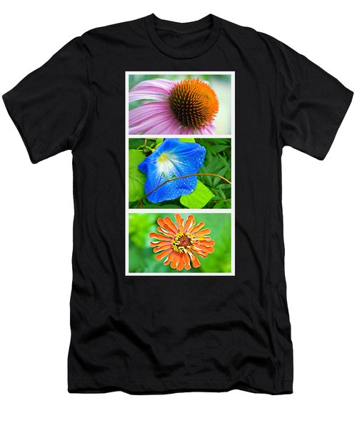 Flower Collage Part Two Men's T-Shirt (Athletic Fit)
