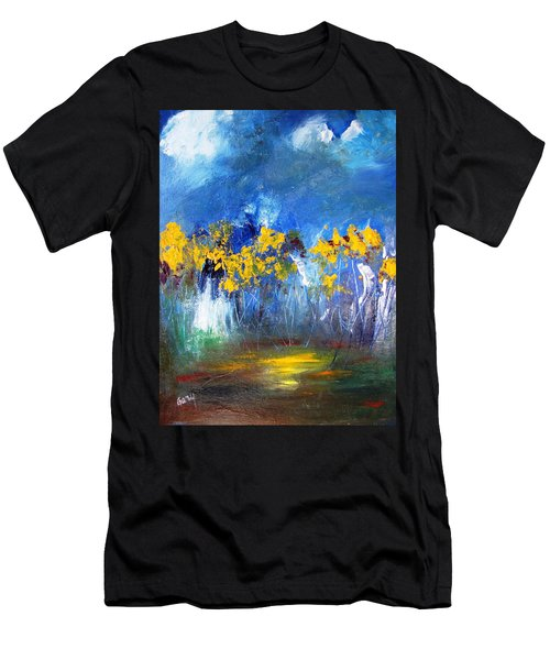 Flowers Of Maze In Blue Men's T-Shirt (Athletic Fit)