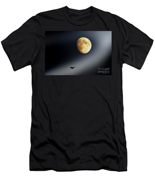 Fly Me To The Moon Men's T-Shirt (Slim Fit) by Kevin J McGraw