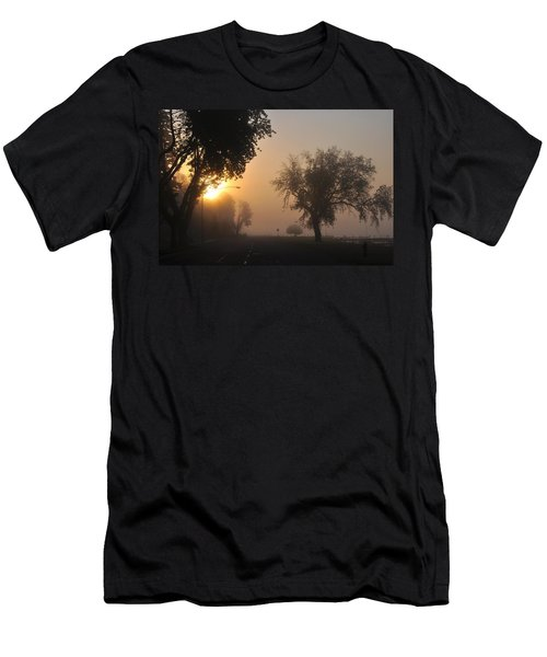 Foggy Morn Street Men's T-Shirt (Athletic Fit)