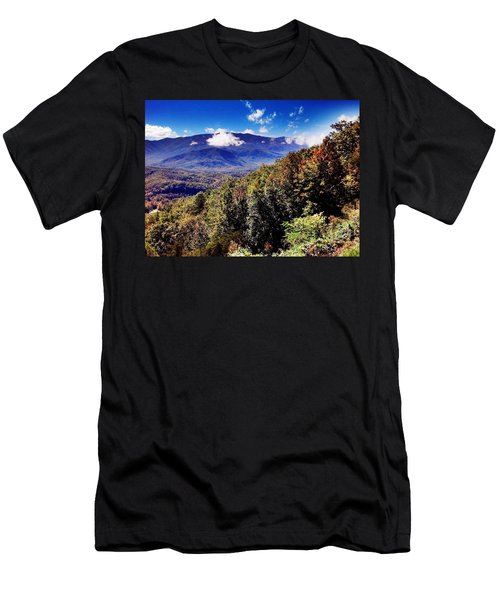 Men's T-Shirt (Slim Fit) featuring the photograph Foothills Parkway Tennessee by Janice Spivey