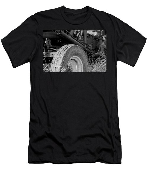 Men's T-Shirt (Slim Fit) featuring the photograph Ford Tractor Details In Black And White by Jennifer Ancker