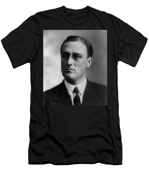 Men's T-Shirt (Slim Fit) featuring the photograph Franklin Delano Roosevelt by International  Images