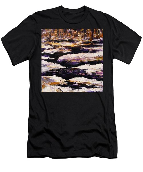 Frozen River Men's T-Shirt (Slim Fit) by Karen  Ferrand Carroll