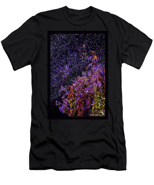 Men's T-Shirt (Slim Fit) featuring the photograph Galactic Gardens by Susanne Still