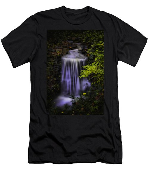 Men's T-Shirt (Slim Fit) featuring the photograph Garden Falls by Lynne Jenkins
