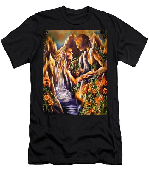 Garden Of Earthly Delights Men's T-Shirt (Slim Fit) by Karen  Ferrand Carroll