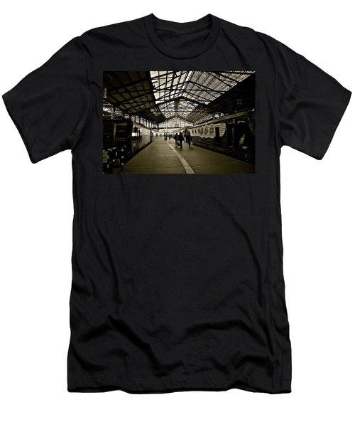 Men's T-Shirt (Slim Fit) featuring the photograph Gare De Saint Lazare by Eric Tressler
