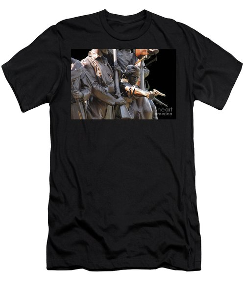 Men's T-Shirt (Slim Fit) featuring the photograph Gettysburg Monument by Cindy Manero