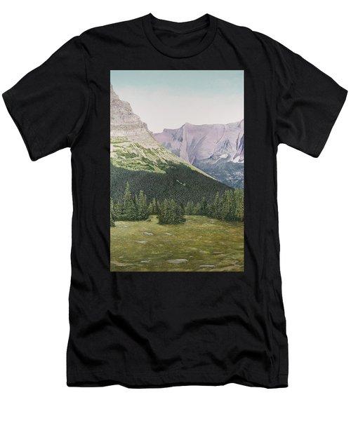 Glacier National Park Montana Men's T-Shirt (Athletic Fit)
