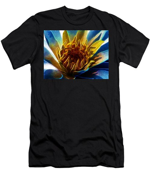 Glowing Lotus Men's T-Shirt (Athletic Fit)