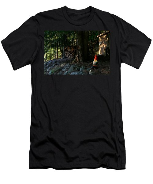 Gnome And The Woodpile Men's T-Shirt (Athletic Fit)