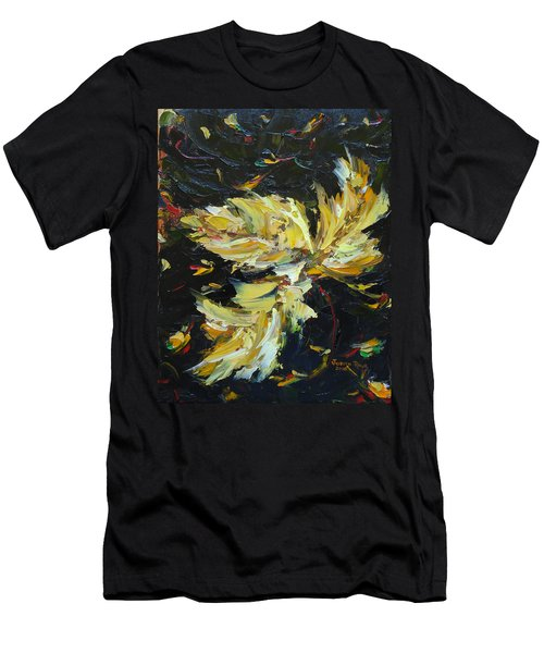 Men's T-Shirt (Athletic Fit) featuring the painting Golden Flight by Judith Rhue