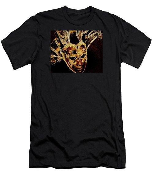 Golden Mask Men's T-Shirt (Slim Fit) by Lori Seaman