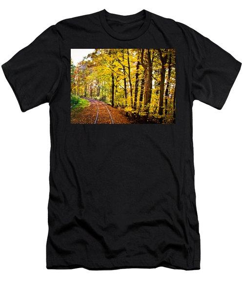 Golden Rails Men's T-Shirt (Slim Fit) by Sara Frank