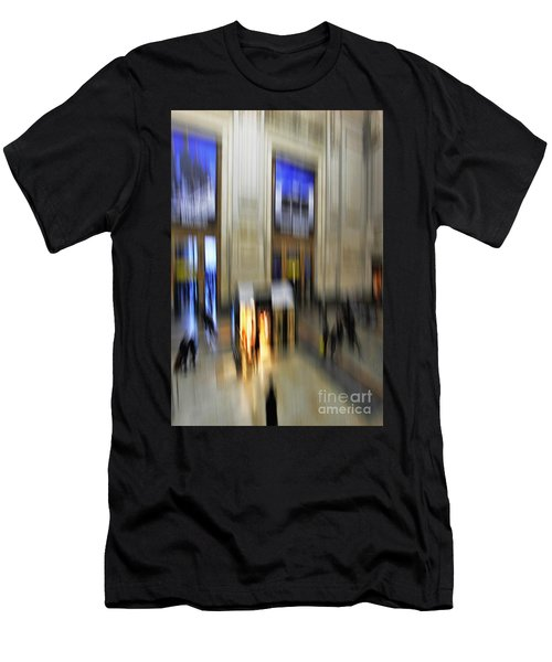Men's T-Shirt (Slim Fit) featuring the photograph Grand Central Station Italian Style by Andy Prendy